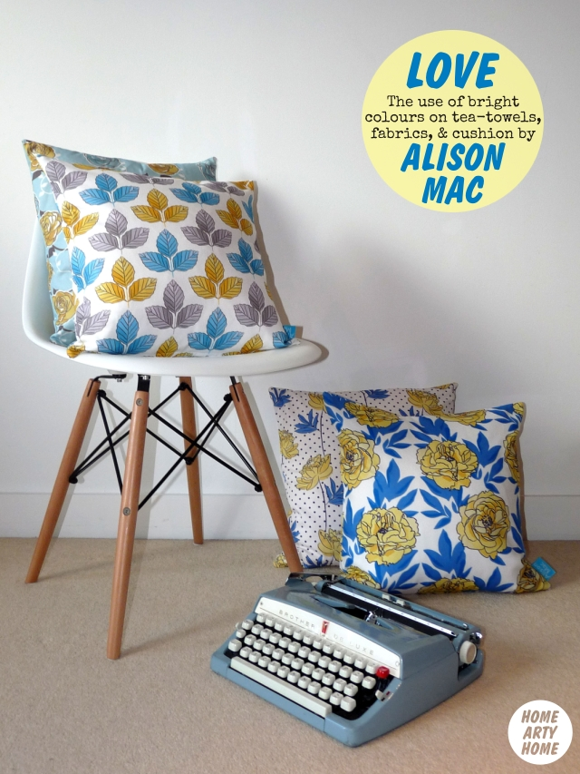 Alison Mac interiors floral fabrics and cushions decor homeartyhome