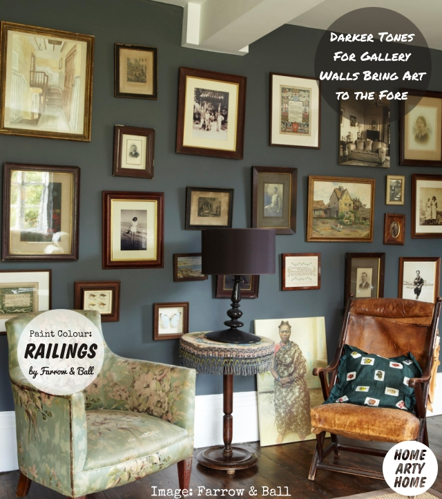 Colour Gallery Walls farrow and ball railings paint