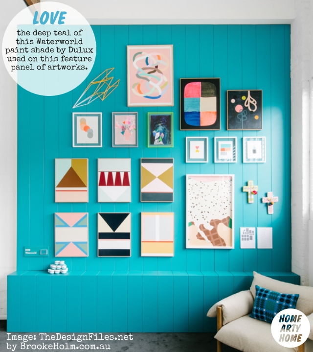 Colour Gallery Walls the design files open house dulux waterworld kirra jamison