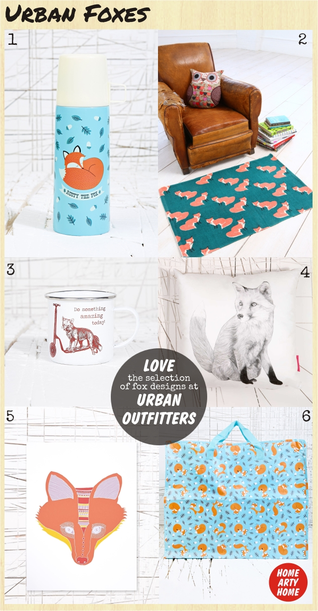 Urban Foxes homeartyhome urban outfitters fox