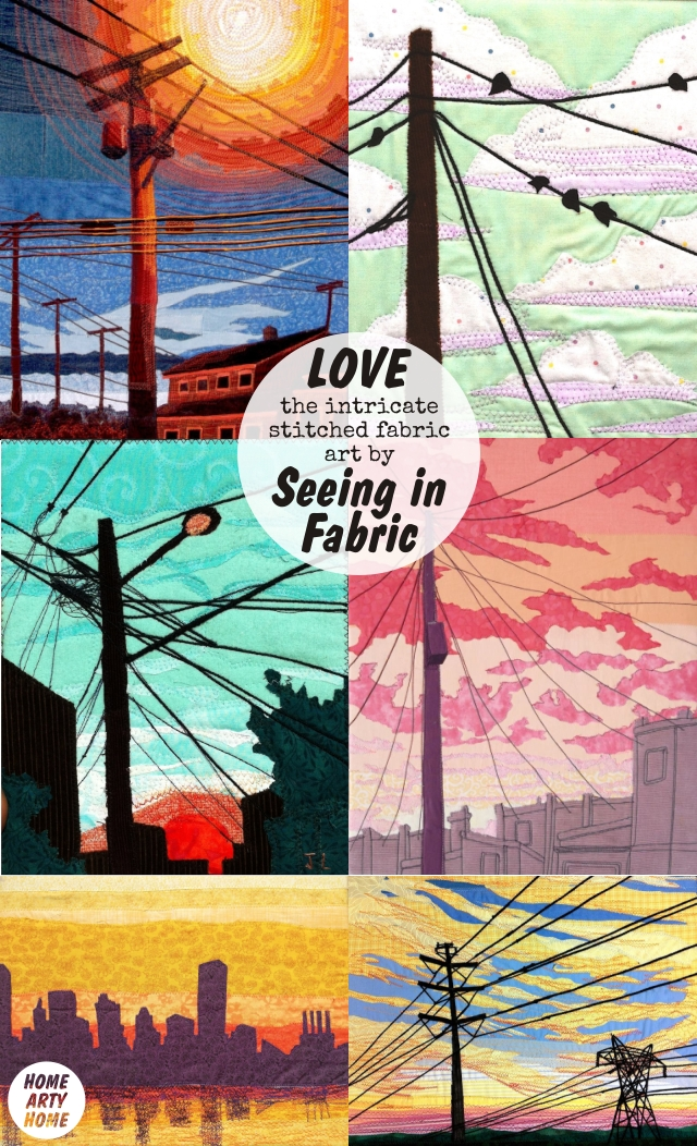 Four Fabric Artists homeartyhome SEEINGINFABRIC