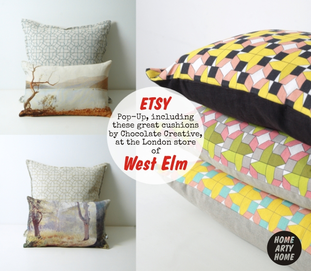 Etsy Pop-Up at West Elm homeartyhome Chocolate Creative