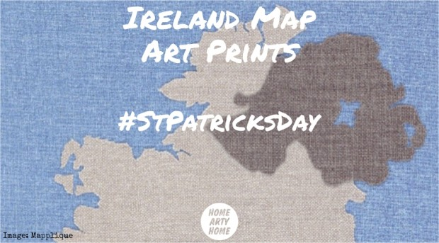 Ireland Map Art Prints homeartyhome
