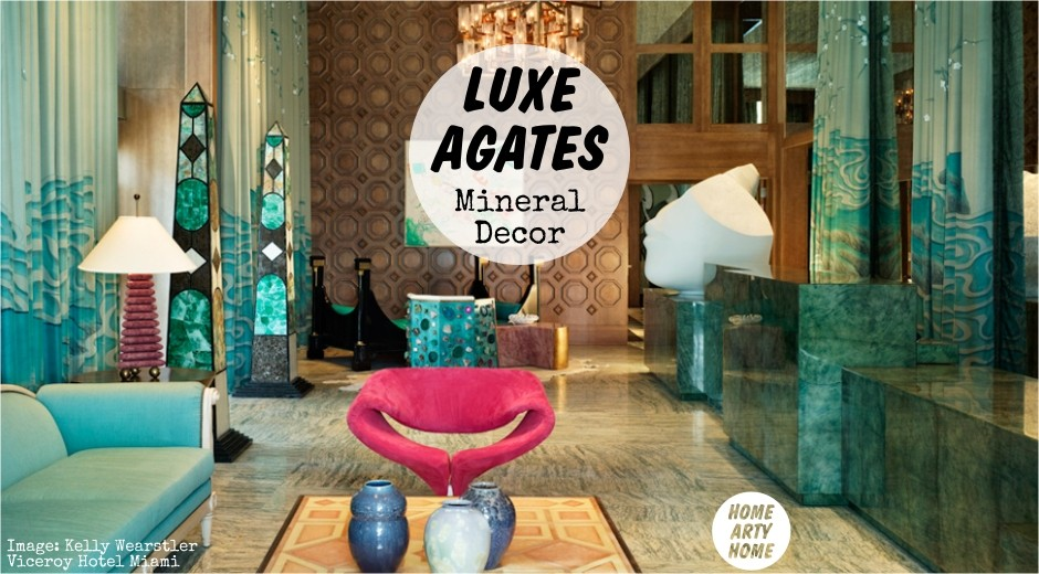 Luxe Agates Mineral Decor homeartyhome