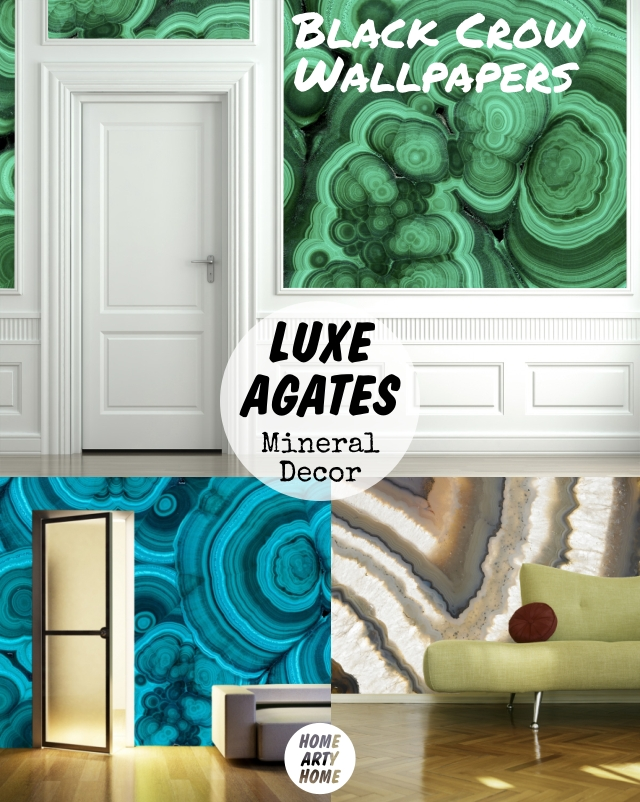 Luxe Agates Mineral Decor homeartyhome black crow studios