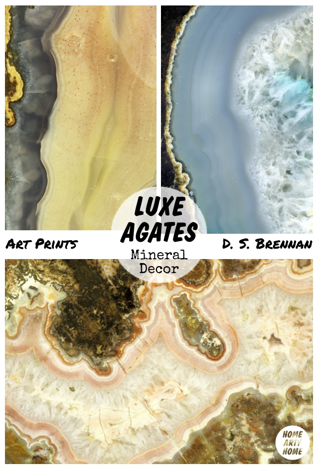 Luxe Agates Mineral Decor homeartyhome ds brennan