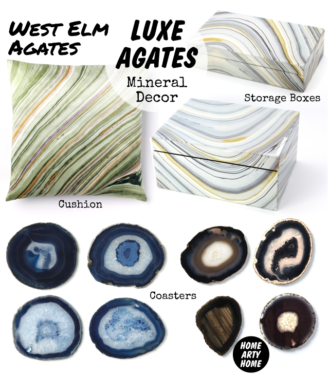 Luxe Agates Mineral Decor homeartyhome westelm