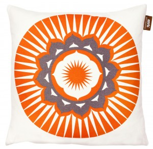 darjeeling orange cushion Mini moderns