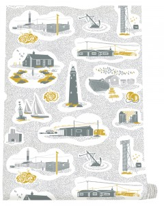Mini Moderns Hinterland Dungeness Wallpaper