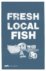fresh local fish tea towel Mini Moderns