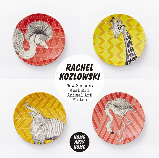 West Elm Animal Art Plates homeartyhome Rachel Kozlowski