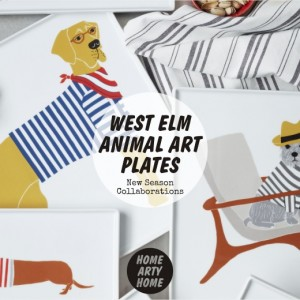 West Elm Animal Art Plates homeartyhome