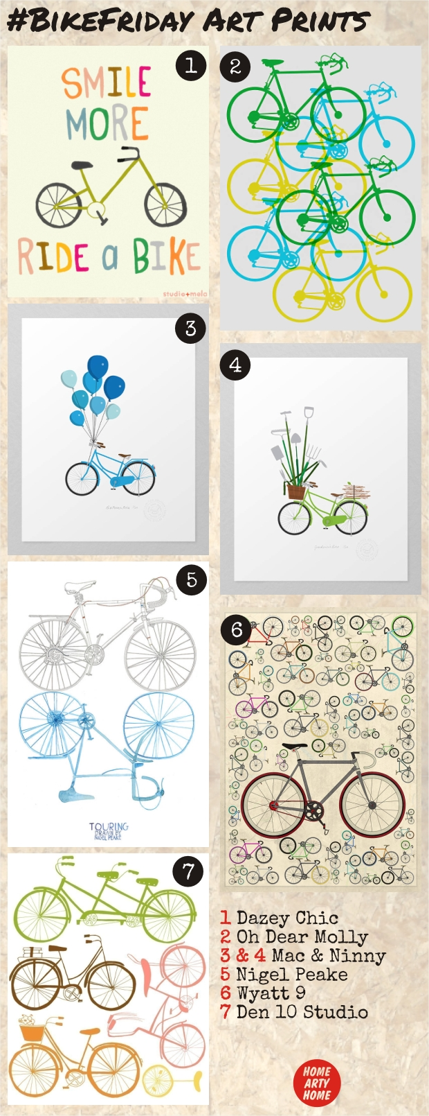 BikeFriday Art Prints homeartyhome
