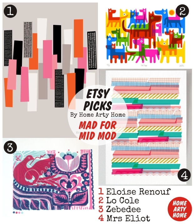 Etsy Picks MAD FOR MID MOD homeartyhome
