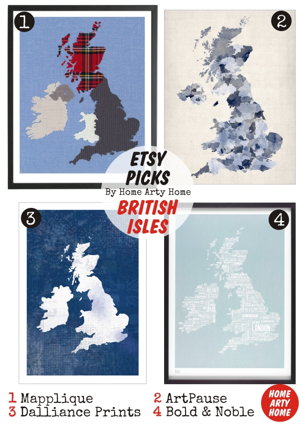 Etsy Picks MAPS homeartyhome
