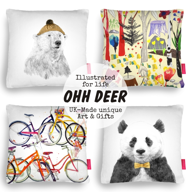 Ohh Deer illustrated for life Uk made art and gifts homeartyhome