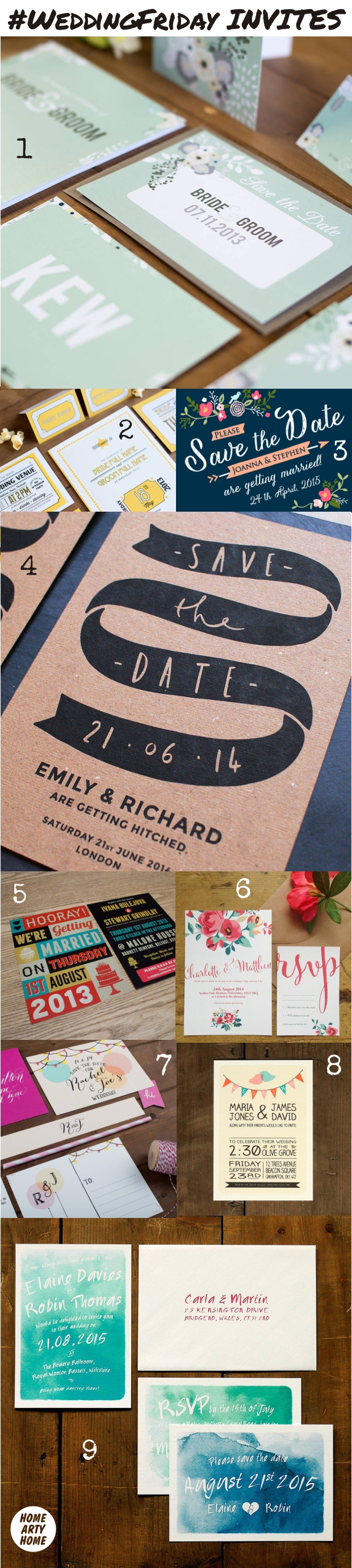 WeddingFriday Invites homeartyhome