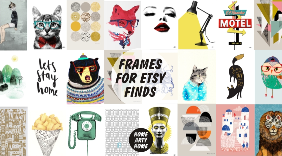 Frames for Etsy Art Finds -Home Arty Home
