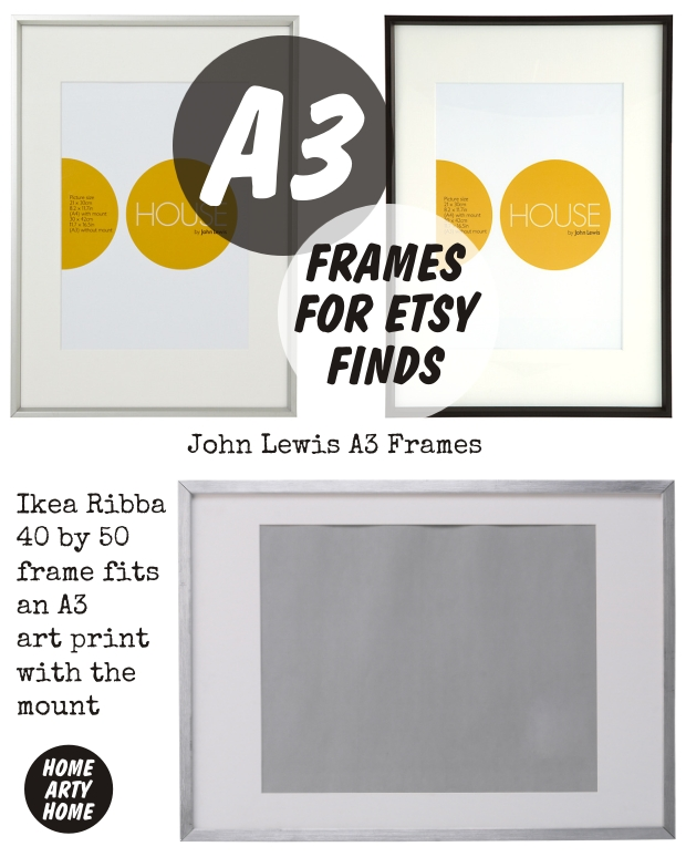 Frames for Etsy Finds homeartyhome a3 frames