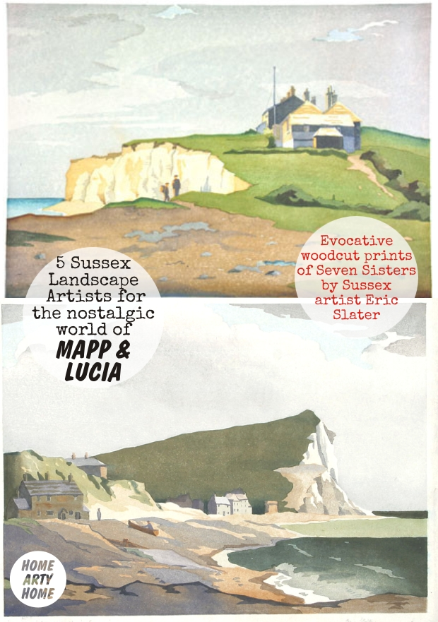 Mapp and Lucia Sussex Landscape Artists homeartyhome eric slater