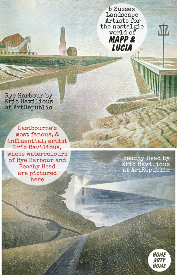 Mapp and Lucia Sussex Landscape Artists homeartyhome ravilious