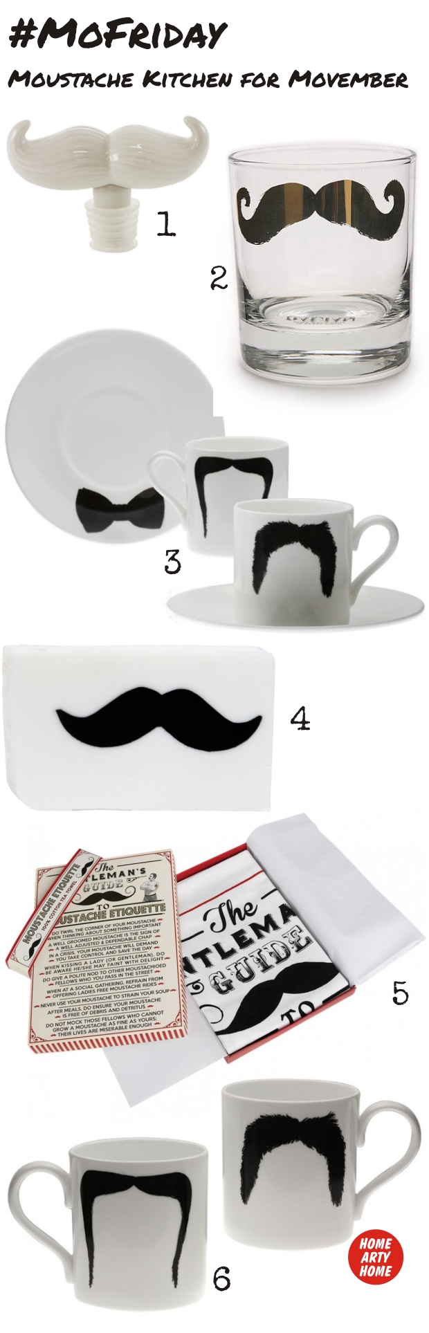 MoFriday Movember Moustache Kitchen homeartyhome