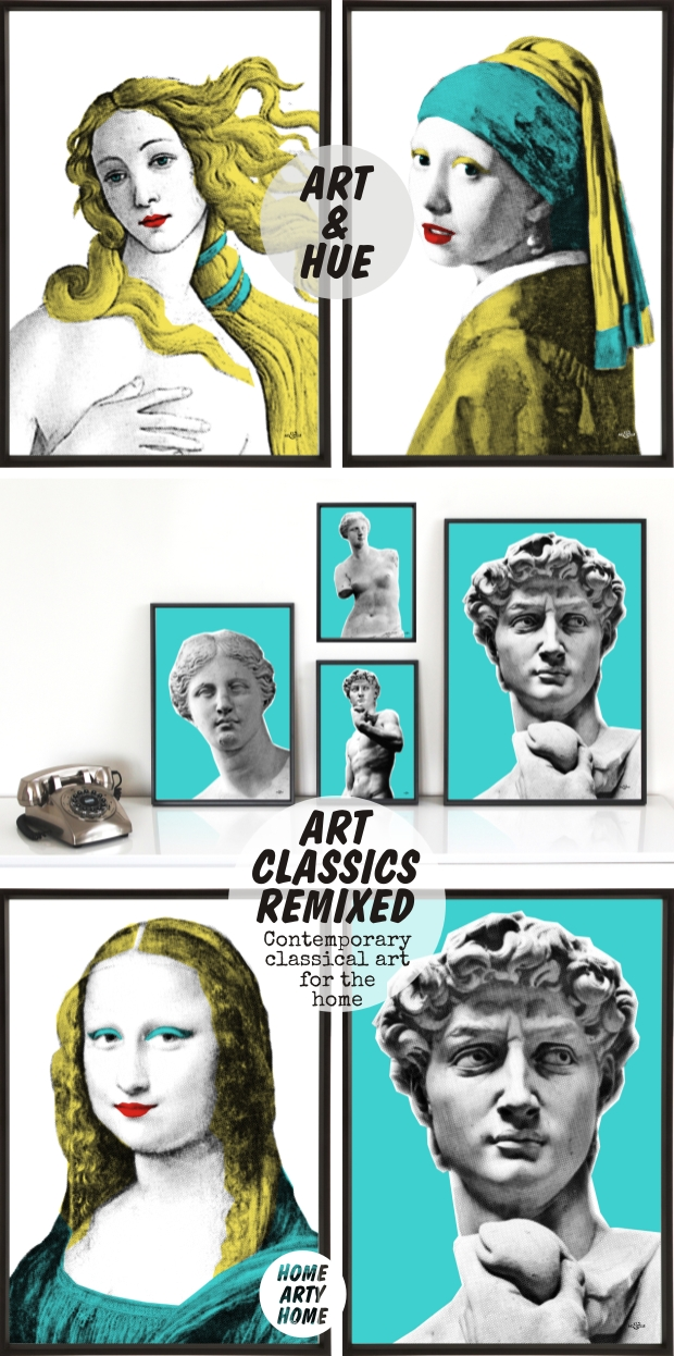 Art classics remixed by ibride mineheart art and hue homeartyhome 3