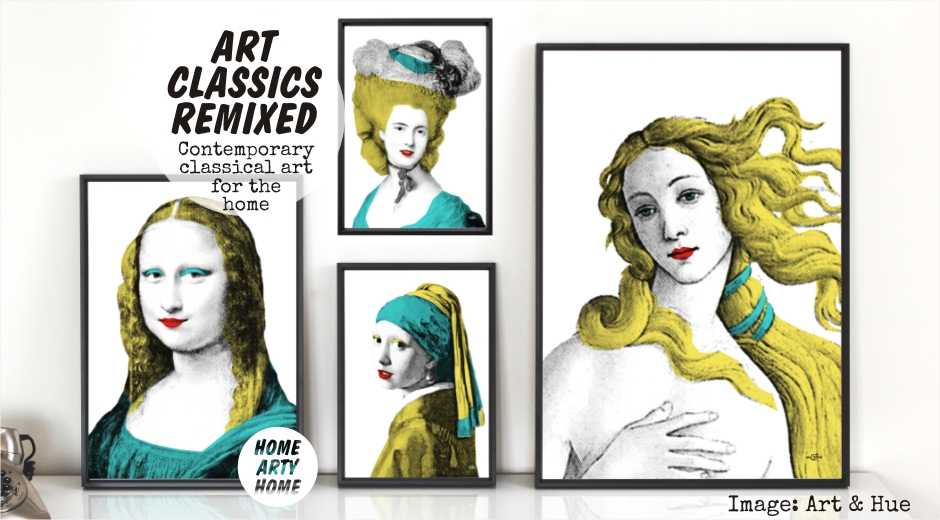 Art classics remixed by ibride mineheart art and hue homeartyhome