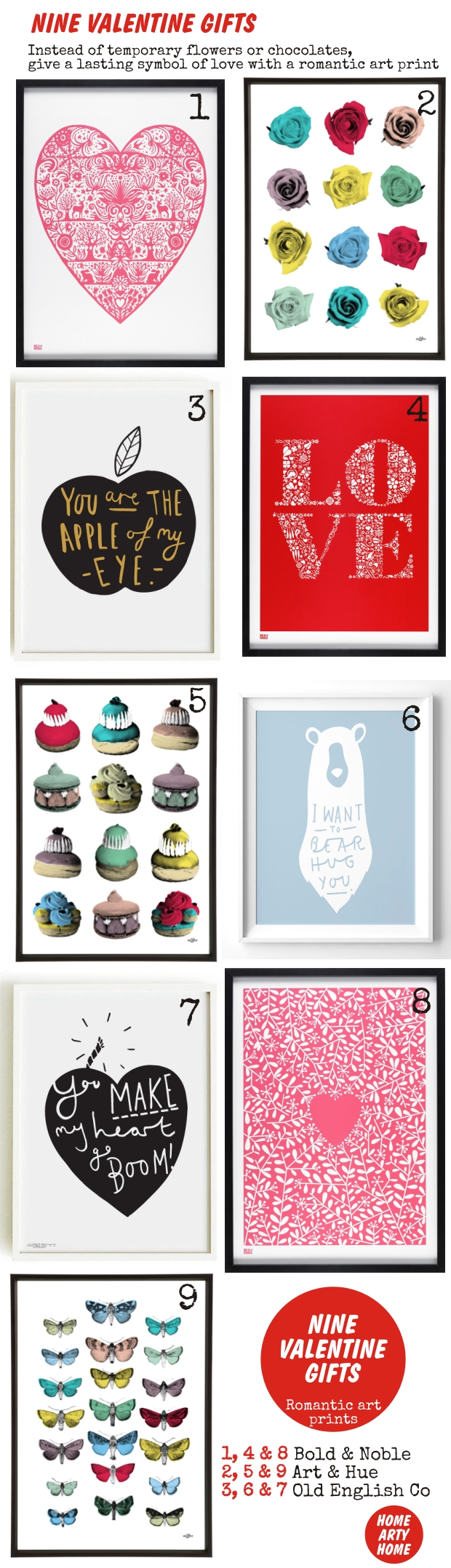 Nine Valentine Gifts homeartyhome