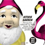 Kitsch Garden – Bring the outside in with these fun Flamingos and Gnomes