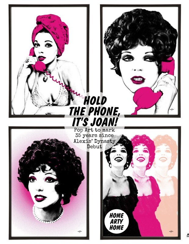 Joan Collins Pop Art by Art & Hue